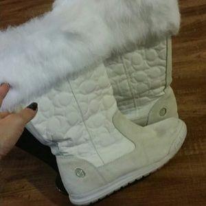 White Coach boots